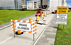 America's Drivers Ed - Work Zone Road Closed